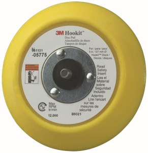 3M Hookit Clean Sanding Disc Pad Hook Saver 28326 3 in 3 Holes 5 per bag