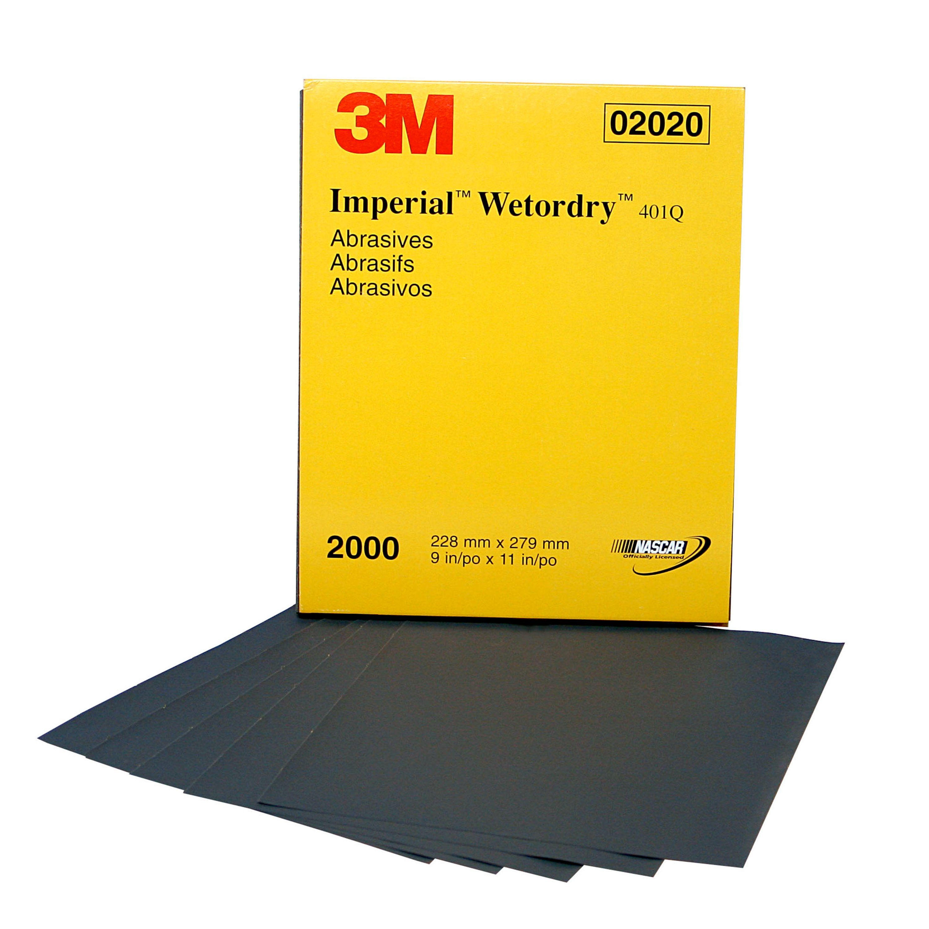 3M 02020 Imperial Wetordry 9 x 11 2000A Grit Sheet